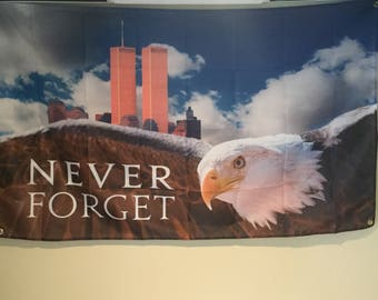Never Forget 9/11 Wall Flag