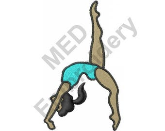 Gymnastics Girl - Machine Embroidery Design