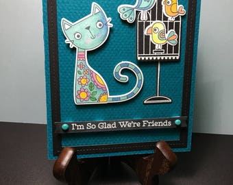A joyful friendship card