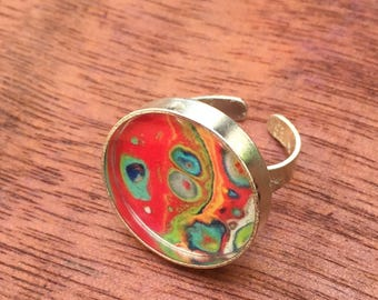 Red & Blue Adjustable Ring / Beacon12
