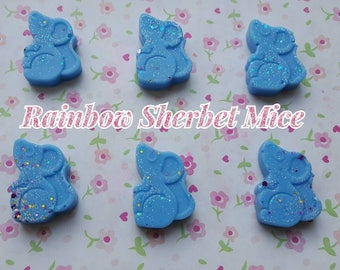 Rainbow Sherbet Mice Wax Melts. Pack of 6