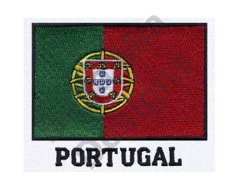 Flag - Machine Embroidery Design, Flag Of Portugal