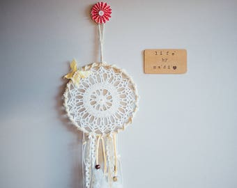 "Butterfly Doily Dream Catcher - 6"" - LifeByMadi"
