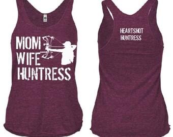 Mom Wife Huntress Tri-Blend Tank