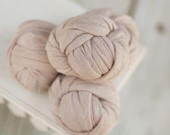 Warm Buff Stretch Knit Wrap, Beige Stretch Knit Wrap, Newborn Photography Wrap, Newborn Photography Layers - RTS