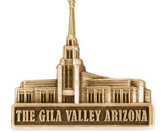 The Gila Valley Arizona Temple Gold Pin - LDS Gifts
