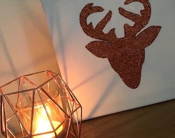 Canvas glitter reindeer