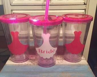 Bride tumbler set