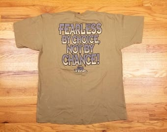 Vintage 90s NO FEAR shirt Fearless by Choice not by Chance Size XL