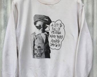 vintage sweatshirt pullover size M white color