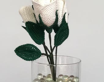 SEMI-Open ROSES - Blossom ***sold in Bundle of 3, Bundle of 6, and Bundle of 12 for a DISCOUNT***, crochet flowers