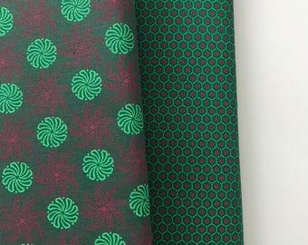 Green Shweshwe African fabric