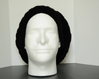 Black Ribbed Hat