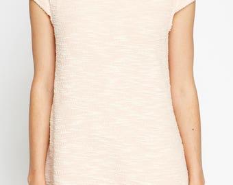 Women's High Neck Short Sleeve Shift Dress