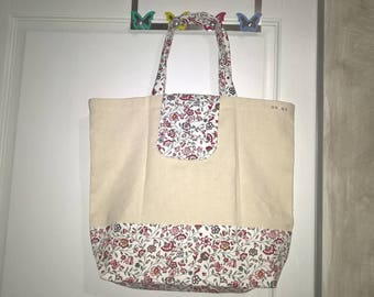 Clasped, foldable, old thick metis, shopping bag