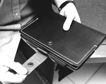 Black leather notebooks Cover A5 diary cover journal cover