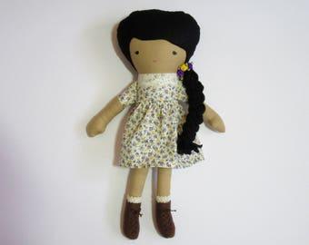 Fabric doll rag doll handmade- Simi