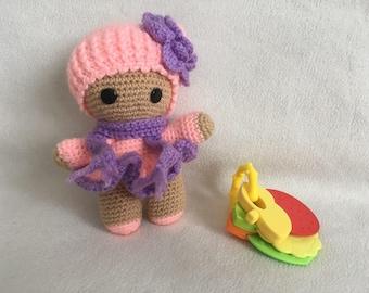 Amigurumi Winter pink baby