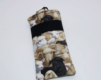 Sheep eye glasses case