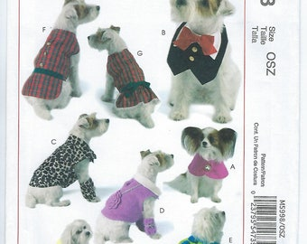 McCalls 5998 - Pet Clothes/Cape/Vest/Coats & Leggings/Dress