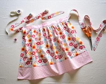 Floral Half Skirt Apron