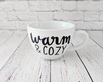 Warm and Cozy Cappuccino Mug