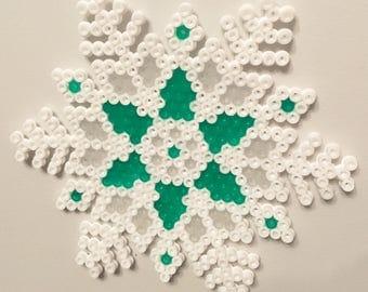 Hame bead, fuse beads, snowflakes for christmas