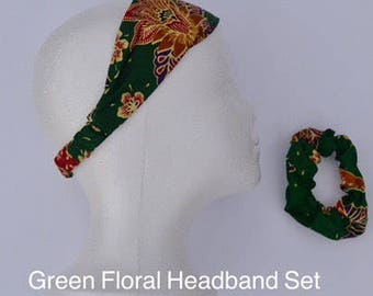 Floral Headband and Scrunchie