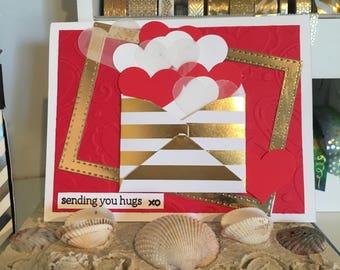 Encouragement Card Sending Hugs