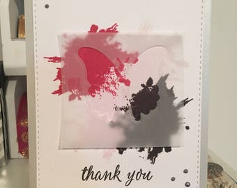 Thank You Card with Butterfly