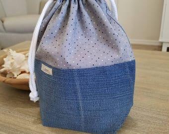 Knitting Project Bag, Sock Project Bag, Gift Bag, Crochet Bag