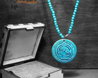 Meditation Symbol Necklaces - Handmade Ceramic