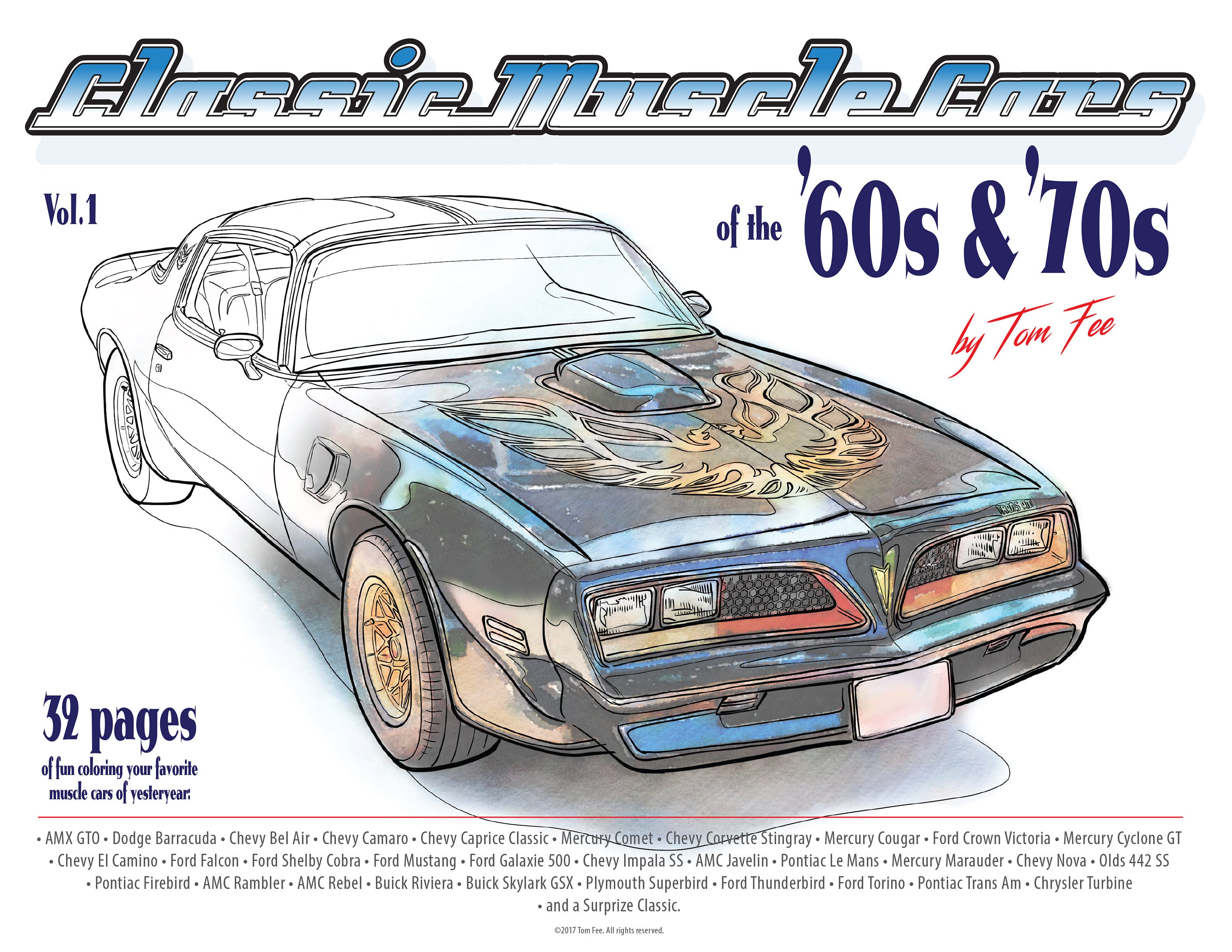 muscle cars of the 60s and 70s vol 1 coloring book