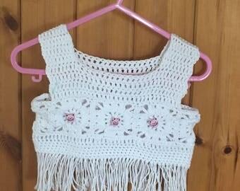 Hand CrochetedToddlers Tops