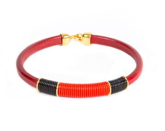 4 The Culture Genuine Leather Choker