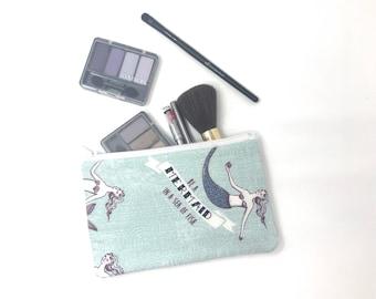 Cosmetic Bag, Makeup Brush Holder, Make-up Bag, Makeup Bag, Pencil Case, Makeup Organizer, Makeup Organizers, Pouch, Zipper, Mermaid, Holder