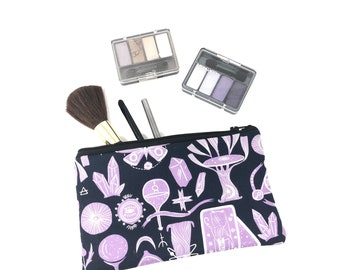 Magical Cosmetic Bag, Makeup Brush Holder, Make-up Bag, Makeup Bag, Pencil Case, Makeup Organizer, Makeup Organizers, Zipper Pouch, Wicca