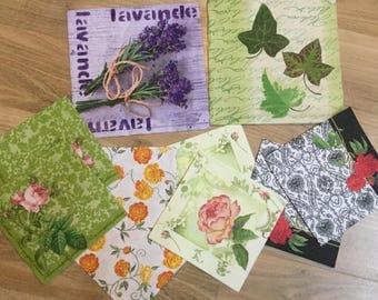 Set of 10 paper napkins