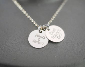 Name chain ~ double slide ~ 925 Silver