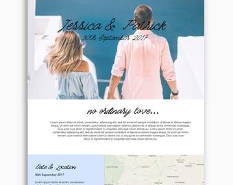 Bespoke wedding website, wordpress website, coastal theme, romantic theme, feminine theme, custom wedding website design, custom domain