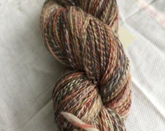 Handspun Targhee knitting yarn