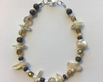 Beads and Shells Bracelet-- FREE SHIPPING