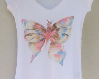 """Butterfly effect"" tee shirt short sleeves, size XS"
