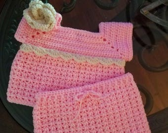 Baby girl crochet set
