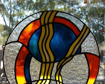 stained glass, abstract, suncatcher