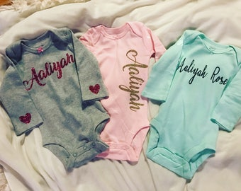 Personalize Baby body suit