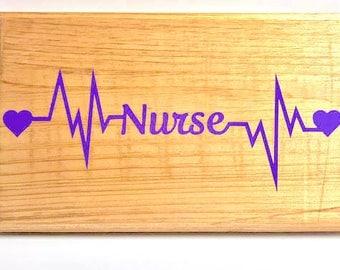 Nurse Lifeline Sign, Graduation gift, Nurse sign, Home decor, RN, LPN, Nursing student, Christmas gift, wooden sign, Lifeline, Rustic