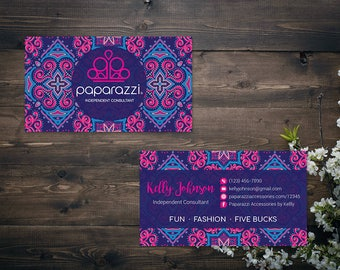 PERSONALIZED Paparazzi Business Card, Custom Paparazzi Accessories Business Card, Fast Free Personalization, Printable Business Card PZ17