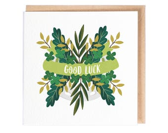 Good Luck - Greeting Card - Good Luck Card - Folio - Stationery - thisisfolio