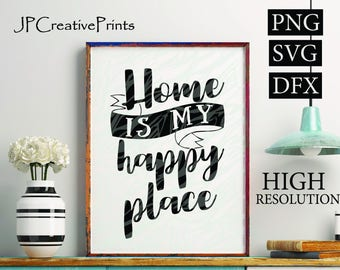 Home is my happy place, house + love = home, Happiness is homemade, Together we make a family Printable Files ,Quotes, Instant Download